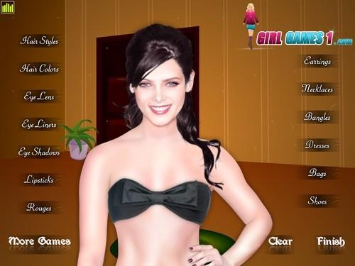 Online hra Ashley Greene makeup