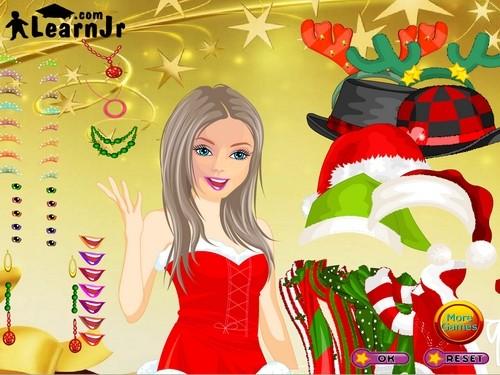 Online hra Barbie christmas dressup