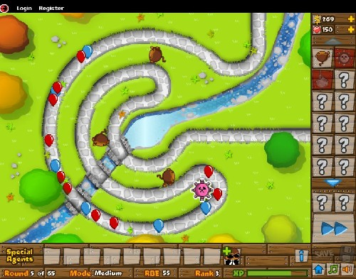 Bloons Tower Defense 5 online Strategické hry
