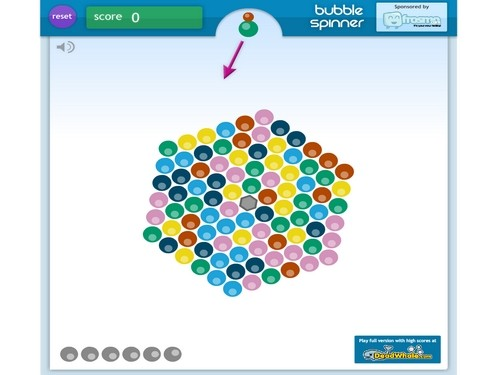 Online hra Bubble spinner