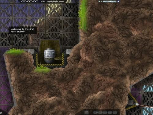 Online hra Cluster Lander