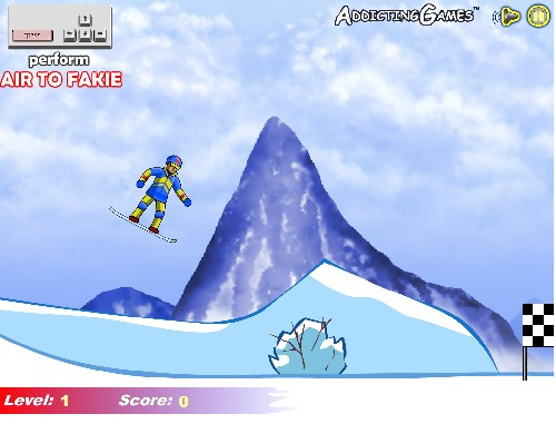 Online hra Extrémní snowboarding