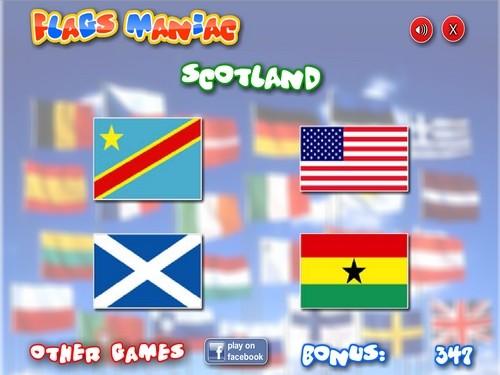 Online hra Hádání vlajek
