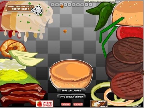 Online hra Hamburger designer