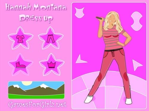 Online hra Hannah Montana oblíkačka