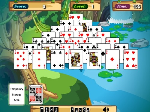Jungle Solitaire online Karty