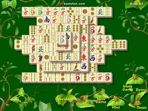 Online hra Mahjong Gardens