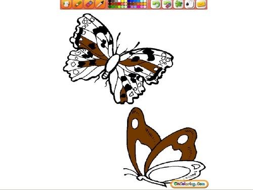 Online hra Motýli