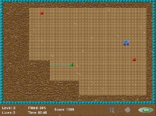 Online hra Neo Xonix