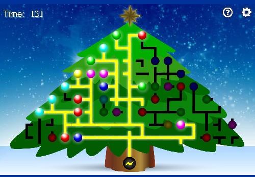 Online hra Osvětlení vánočního stromku