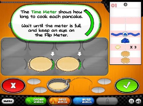 Online hra Papas pancakeria