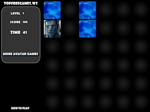 Online hra Pexeso Avatar