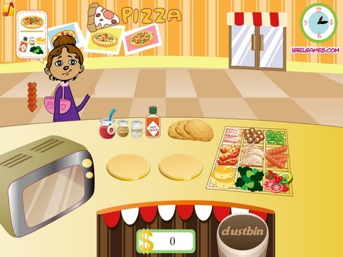 Online hra Pizza mania
