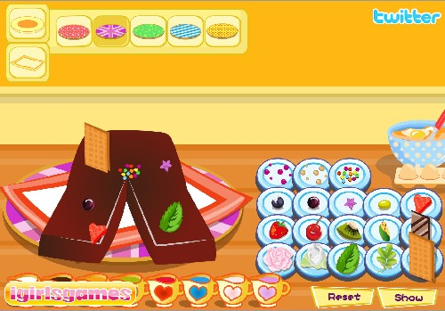 Online hra Příprava dortíku