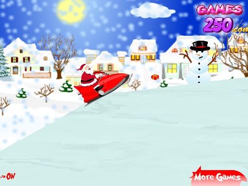 Online hra Santa na skůtru