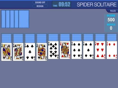 Spider Solitaire online Karty