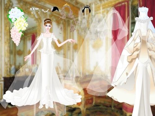 Online hra Svatební šaty oblíkačka