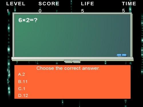 Online hra Test násobení