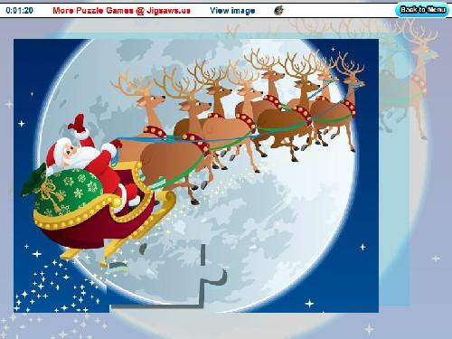 Online hra Vánoční skládačka