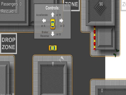 Online hra Zombie taxi